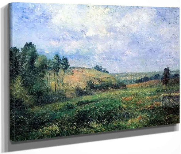 Landscape, Near Pontoise By Camille Pissarro By Camille Pissarro