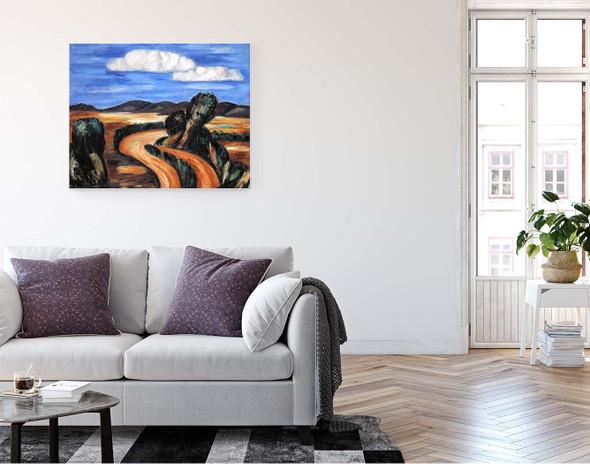 Landscape, New Mexico 5 By Marsden Hartley