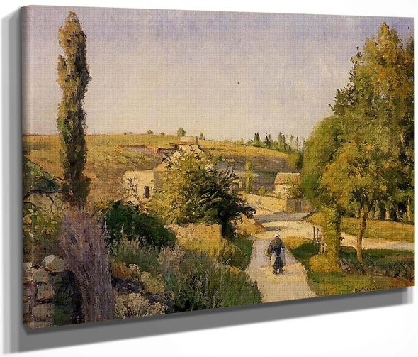 Landscape At L'hermitage, Pontoise By Camille Pissarro By Camille Pissarro