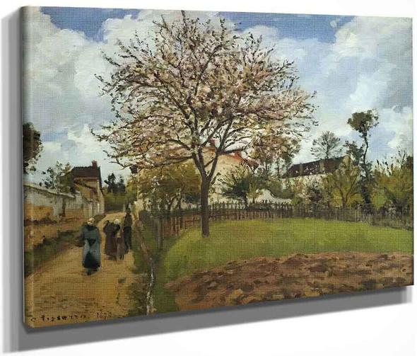 Landscape At Louveciennes1 By Camille Pissarro By Camille Pissarro