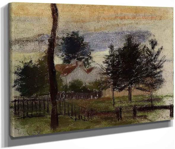 Landscape At Louveciennes By Camille Pissarro By Camille Pissarro