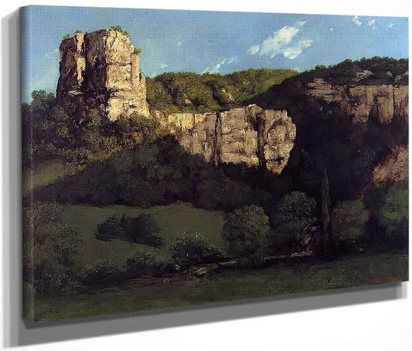 Landscape Bald Rock In The Valley Of Ornans By Gustave Courbet By Gustave Courbet
