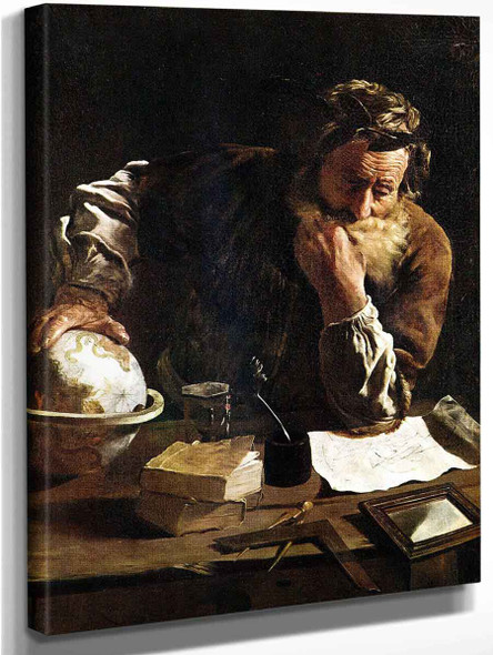 Archimedes Thoughtful By Domenico Fetti