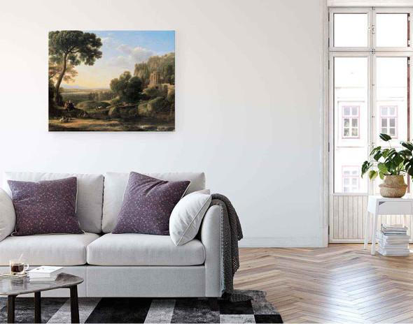 Landscape With Shepherds 2 By Claude Lorrain By Claude Lorrain