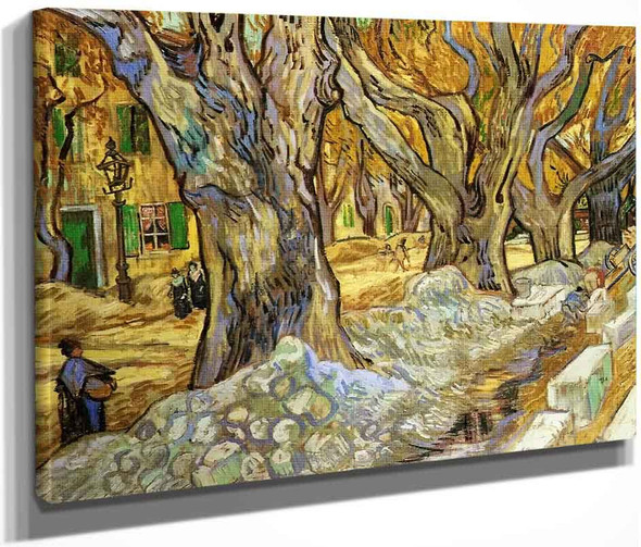 Large Plane Trees By Vincent Van Gogh