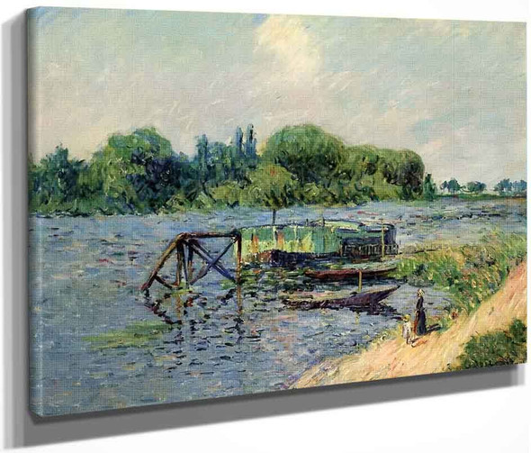 Laundry On The Seine At Herblay By Gustave Loiseau By Gustave Loiseau