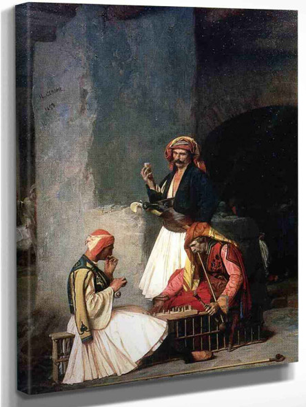 Arnauts Playing Chess By Jean Leon Gerome