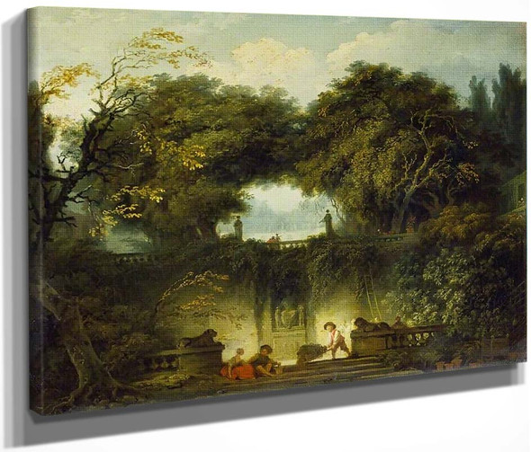 Le Petit Parc By Jean Honore Fragonard  By Jean Honore Fragonard
