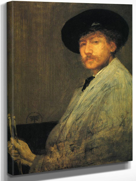 Arrangement In Grey Portrait Of The Painter By James Abbott Mcneill Whistler American 1834 1903