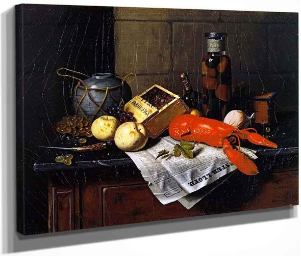 Lobster And Pester Lloyd By William Michael Harnett  By William Michael Harnett