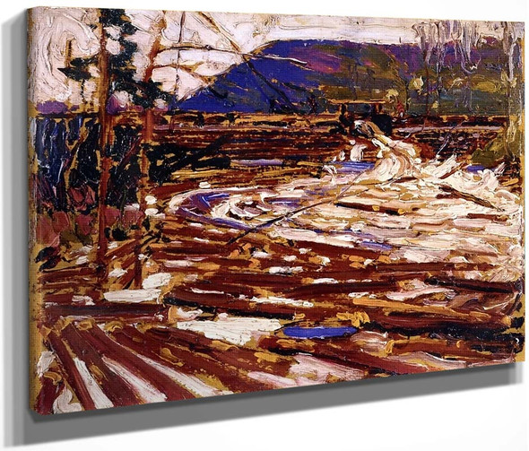 Log Jam Sketch For The Drive By Tom Thomson(Canadian, 1877 1917)