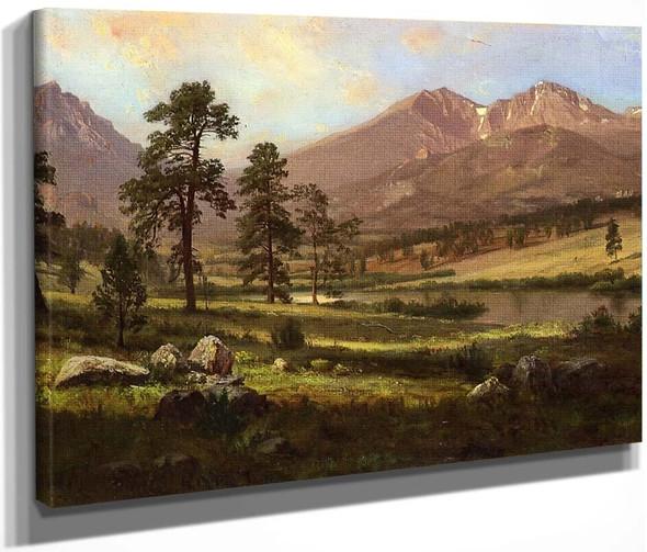 Longs Peak, Estes Park, Colorado By Albert Bierstadt By Albert Bierstadt