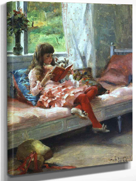 Artist's Sister Bertha By Albert Edelfelt Art Reproduction