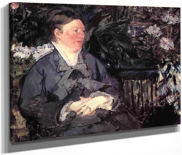 Madame Manet In The Conservatory By Edouard Manet By Edouard Manet