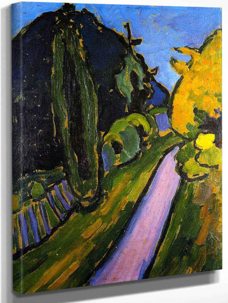 Ascending Path Into The Evening By Alexei Jawlensky By Alexei Jawlensky