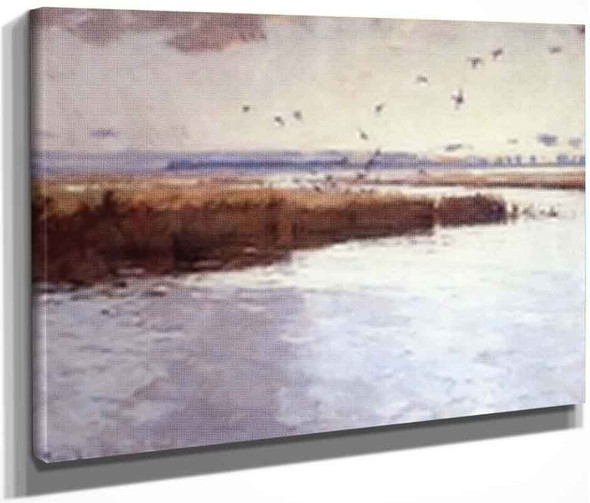 Marshes Of Long Point By Frank W. Benson By Frank W. Benson