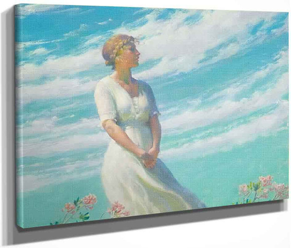 May Breeze By Charles Courtney Curran By Charles Courtney Curran