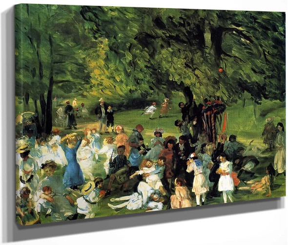 May Day In Central Park By William James Glackens  By William James Glackens