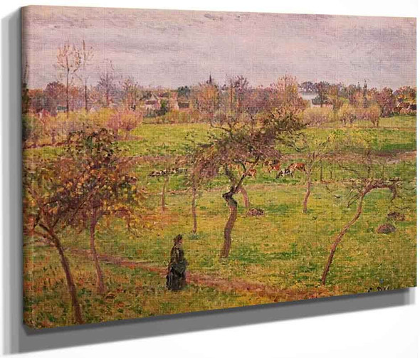Meadow At Eragny By Camille Pissarro By Camille Pissarro