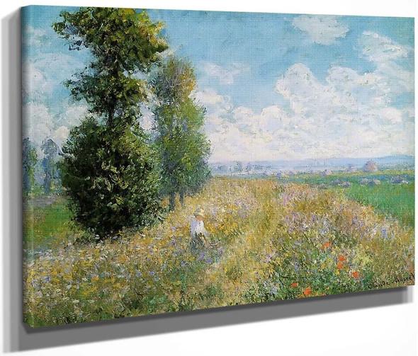 Meadow With Poplars By Claude Oscar Monet