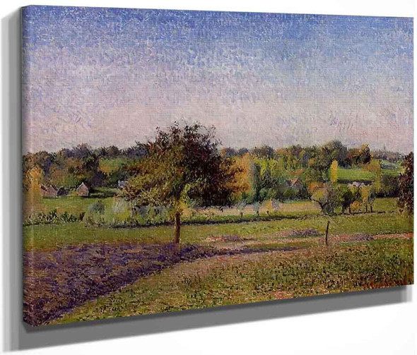 Meadows At Eragny By Camille Pissarro By Camille Pissarro