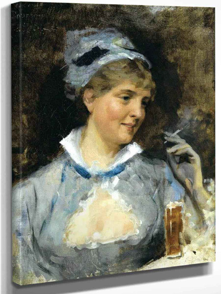 At The Bar By Albert Edelfelt