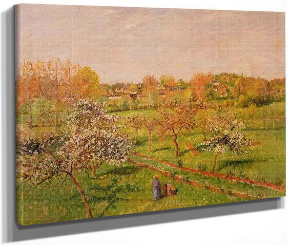 Morning, Flowering Apple Trees, Eragny By Camille Pissarro By Camille Pissarro
