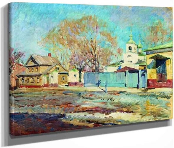 Moscow Street By Sergei Arsenevich Vinogradov Russian 1869 1938