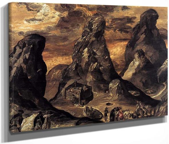 Mount Sinai By El Greco By El Greco