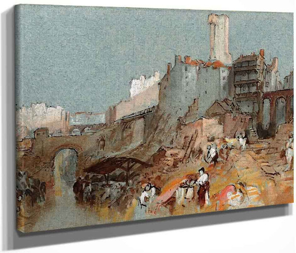 Nantes, The Banks Of The River Erdre And The Pont Sauvetot By Joseph Mallord William Turner