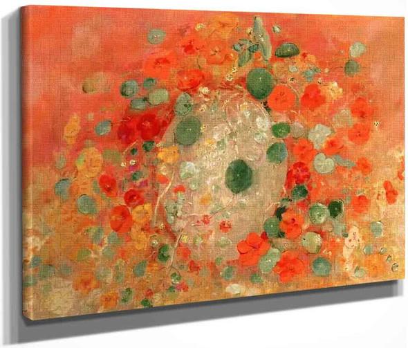 Nasturtiums By Odilon Redon By Odilon Redon