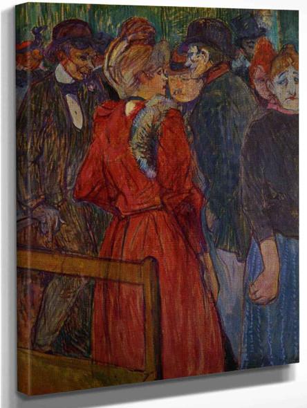 At The Moulin De La Galette By Henri De Toulouse Lautrec