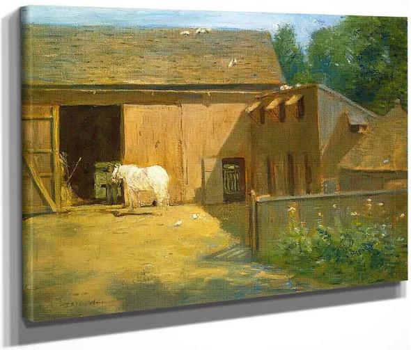 New England Barnyard By Julian Alden Weir American 1852 1919