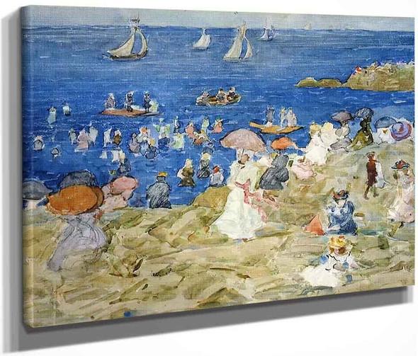 New England Beach Scene By Maurice Prendergast By Maurice Prendergast