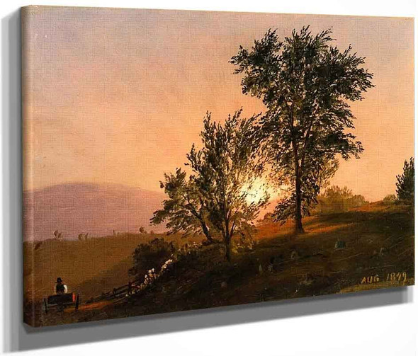 New England Landscape 1 By Frederic Edwin Church By Frederic Edwin Church