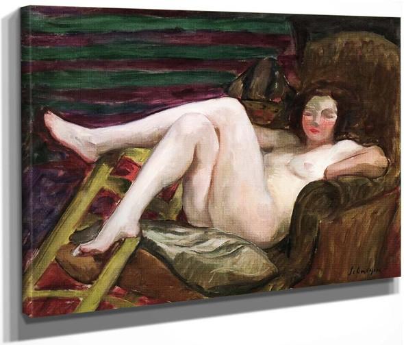 Nude In An Armchair By Henri Lebasque By Henri Lebasque