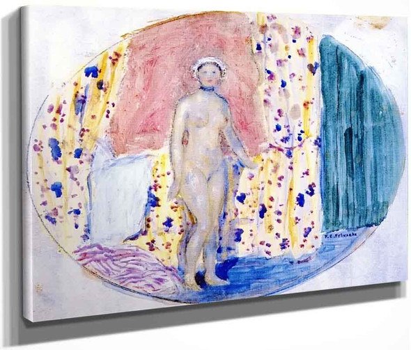 Nude By Frederick Carl Frieseke By Frederick Carl Frieseke