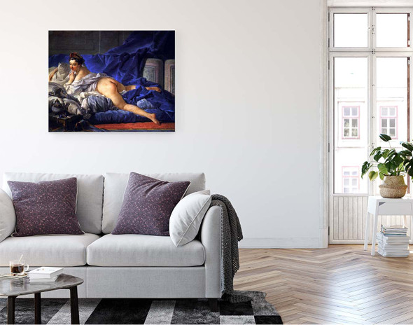 Odalisque Brune By Francois Boucher