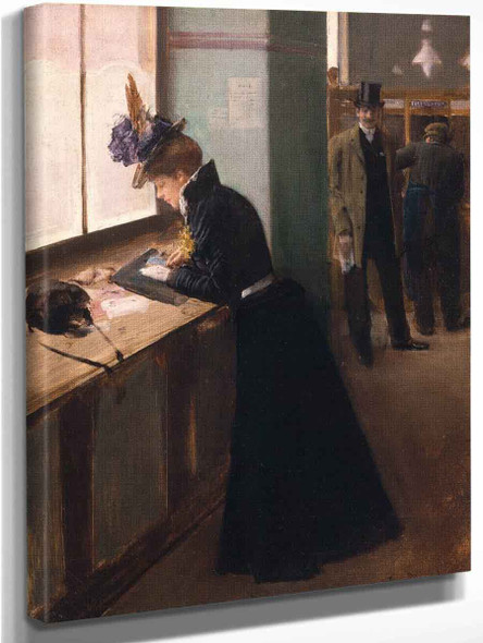 At The Telegraph By Jean Georges Beraud By Jean Georges Beraud