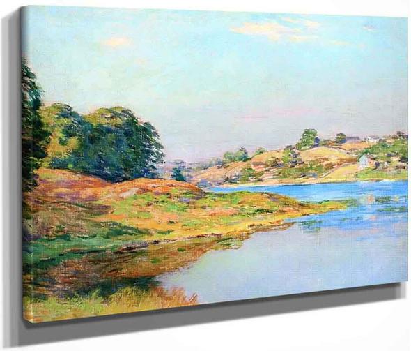 On The River  By Willard Leroy Metcalf By Willard Leroy Metcalf