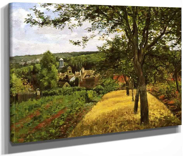 Orchards At Louveciennes By Camille Pissarro By Camille Pissarro