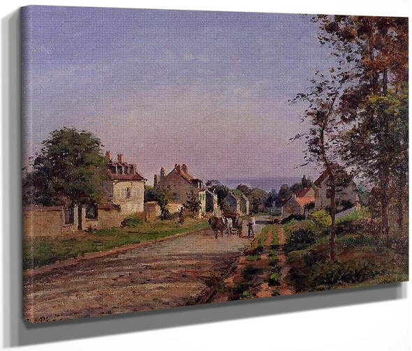 Outskirts Of Louveciennes By Camille Pissarro By Camille Pissarro