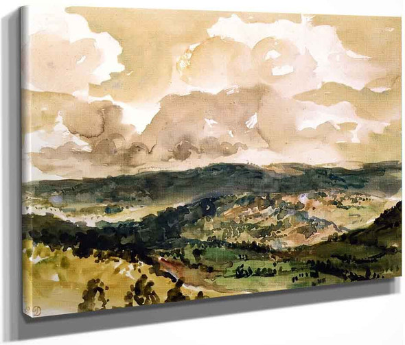 Panoramic View Of The Vallee De La Tourmente By Eugene Delacroix By Eugene Delacroix