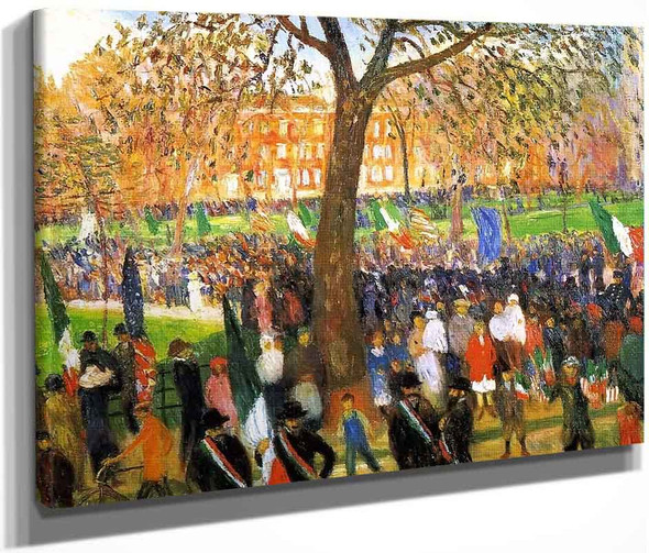 Parade, Washington Square By William James Glackens  By William James Glackens