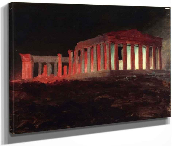 Parthenon, Athens, From The Northwest  By Frederic Edwin Church By Frederic Edwin Church