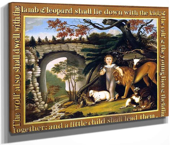 Peaceable Kingdom Of The Branch1 By Edward Hicks