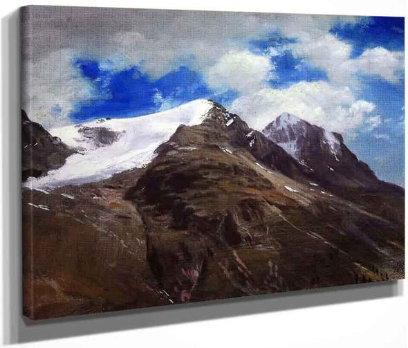 Peaks In The Rockies By Albert Bierstadt By Albert Bierstadt