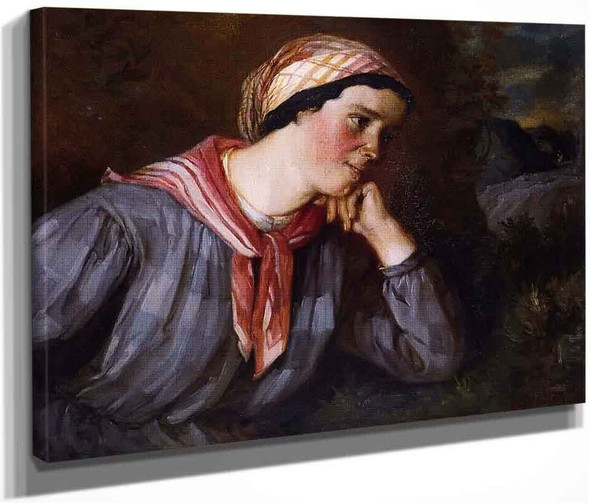 Peasant Wearing Madras By Gustave Courbet By Gustave Courbet