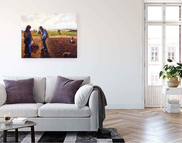 Peasants In The Field, Eragny By Camille Pissarro By Camille Pissarro