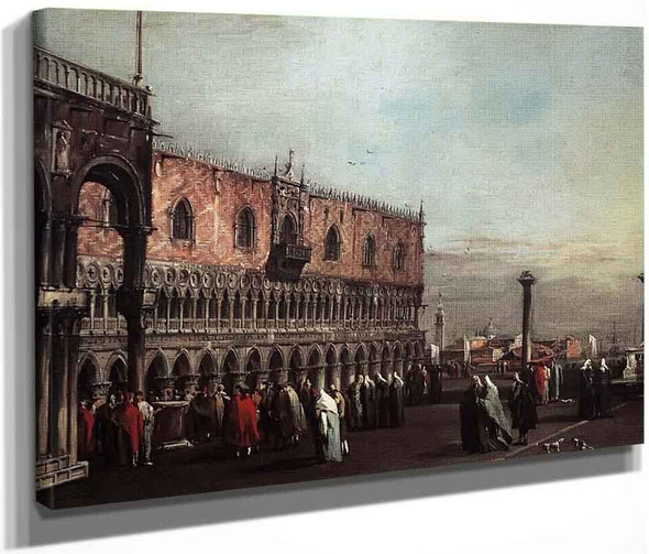 Piazzetta With Doges Palace By Francesco Guardi